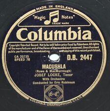 """10"""" 78 - Josef Locke - Macushla/Galway Bay - Columbia DB2447 - 1948"""