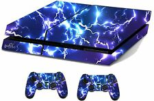 Blue Electric Sticker/Skin PS4 Playstation 4 Console/Remote controller,ps4sk15