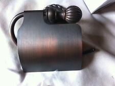 OIL RUBBED BRONZE TOILET PAPER HOLDER WITH COVER MUST L@@K!!