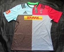 HARLEQUIN London Quins RUGBY home shirt jersey ADIDAS 2015-2016 adult SIZE /XXL