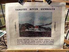 """PRINT OF WWII NAVY RECRUITMENT POSTER NAMED """"YANTZE RIVER GUNBOATS"""""""