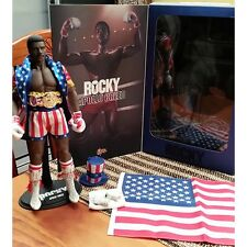 ROCKY APOLLO CREED HOT TOYS 1/6TH SCALE COLLECTABLE FIGURINE WITH ACCESSORIES