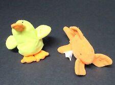 Ty Plush Bean Bag Beanies Duck and Fish 1993