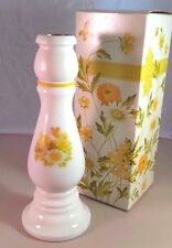 Vintage New In Box Avon Moonwind Cologne 6 oz Buttercup Milk Glass Candlestick