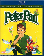 Disney Classic Tale - Peter Pan - Blu ray & DVD Disc Set - Region Free (NEW)