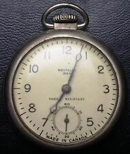 1930s Westlox Dax Vintage Winding Pocket Watch - Made in Canada - FUNCTIONAL