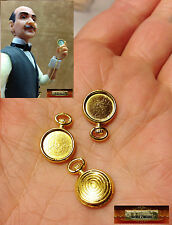 M00028 MOREZMORE 3 Mini 1:6 1/6 Scale Doll Pocket Watch Casing Cabochon Tray A60