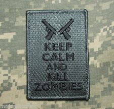 KEEP CALM AND & KILL ZOMBIES USA ACU DARK VELCRO® BRAND FASTENER MORALE PATCH