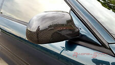 REAL 3D GLOSSY CARBON FIBER WING MIRROR COVER CAP FOR 89-99 TOYOTA MR2 SW20 JDM