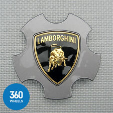 1 x NEW GENUINE LAMBORGHINI GREY CENTRE CAPS GALLARDO WHEEL BADGES 400601147D