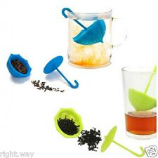 1pc Umbrella Tea Leaf Strainer Herbal Spice Infuser Filter Diffuser Kitchen Tool