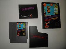 GUMSHOE GUM SHOE hang tab fully intac ORIGINAL COMPLETE NINTENDO NES HQ BOX #A