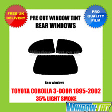 TOYOTA COROLLA 3-DOOR 1995-2002 35% LIGHT REAR PRE CUT WINDOW TINT