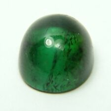 Q-52 Natural green tourmaline, 4.55ct 10x9x6mm, cabochon, oval cab Brazil