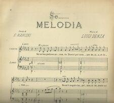 Se... Melodia di Luigi Denza per Canto e Pianoforte Spartito Ricordi 1947
