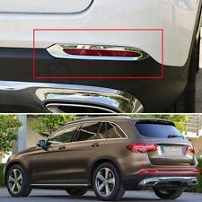 Chrome Rear Fog Lamps Light Frame Cover Trim Fit for Mercedes Benz GLC 2016-2017