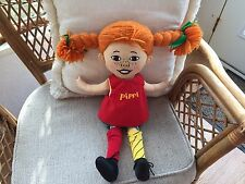 "PIPPI LONGSTOCKING ASTRID LINDGREN SWEEDEN RAG DOLL LARGE 16"" TALL"