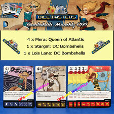 DC DICE MASTERS BOMBSHELLS MONTHLY OP KIT EVENT 1 -Stargirl + Lois Lane + 4 Mera