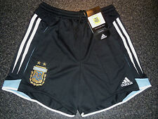 RARE VINTAGE 2004 BNWT BAGGED ARGENTINA ADIDAS HOME SHORTS KIDS 24W Approx 10yrs