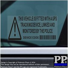 5x Vehicle,Car,Van,Taxi-BLACK-Security Stickers-GPS Signs-Alarm-Tracker Warning