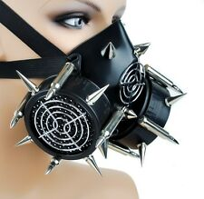 Industrial Bullet Spike Gas Mask Dual Respirator Gothic Zombie Apocalypse Death