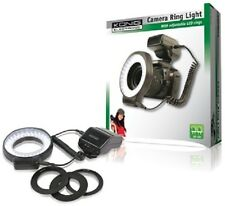 5500K TO 6000K 60 LED CAMERA RING LIGHT CLOSE-UP FLASH + ADAPTER RINGS 52 - 72MM