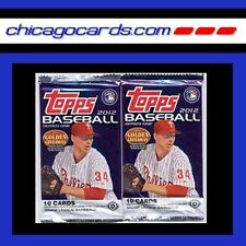 2012 Topps Baseball Series 1 One 10-card HOBBY 2-Pack Lot 20 Cards Total