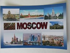 MOSCOW - JUMBO FRIDGE MAGNET - Kremlin, Red Square, St. Basil's Cathedral,