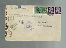 1945 Rome Italy to Brindisi Displaced Person Camp DP Cover Croat Mika Amodaj