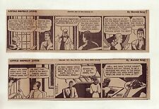 Little Orphan Annie by Gray - 20 large 5 column daily comic strips - April 1947