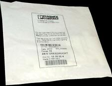NEW PACK OF 10 PHOENIX CONTACT   ZB 5  TERMINAL BLOCK MARKERS