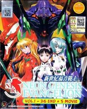 DVD ANIME NEON GENESIS EVANGELION Complete TV Series Vol.1-26 + 5 Movie English