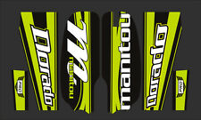 MANITOU DORADO PRO FORK / SUSPENSION DECAL SET GREEN