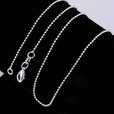 New Ball Bead 925 Sterling Silver Chains Necklace Lobster Clasp Pendants Jewelry