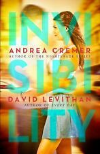 Invisibility by Andrea Cremer and David Levithan (2013, Hardcover) 1st/1st