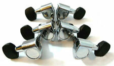Acoustic guitar chrome plated machine head mini Ebony button 6ps 235C-15