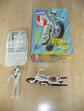 VINTAGE EVEL KNIEVEL STUNT BIKE and FIGURE IDEAL 1972 - BOXED -  NO ENERGIZER
