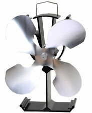 4 Blades Heat Powered Stove Fan for wood burner/ fireplace-Eco+19% fuel saving
