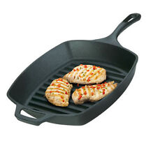 Lodge Frying Pan Griddle Skillet Nonstick Square Grill Barbecue Cast Iron