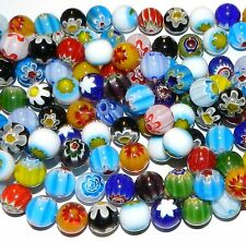 """G1813L2 Assorted Mix Color Millefiori 12mm Round Ball Lampwork Glass Beads 14"""""""