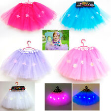 Girls Tutu Skirt LED Light Party Ballet Dance Wear Dress Pettiskirt Costume Kids