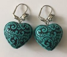 Tarina Tarantino Blue Heart Earrings