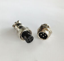 M12 12mm 4 Pin Screw Type Electrical Aviation Plug Socket Connector Hot us999