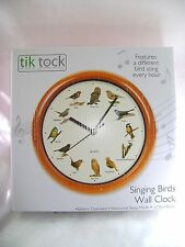 NEW CHRISTMAS WALL CLOCK DIFFERENT FESTIVE SONG EVERY HOUR ROUND WINTER PMS