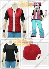 Pokemon Trainer Red Cosplay Costume Only jacket and cap