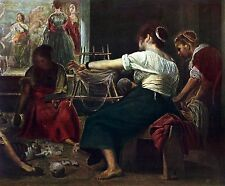 DETAIL OF THE SPINNERS BY DIEGO VELAZQUEZ OFFS. LITHOGRAPH..1954 UNSIGNED