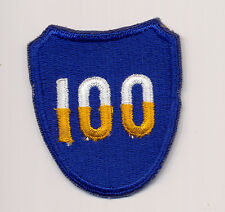 Never Sewn - US 100th Infantry Division Patch from 1962 quartermaster box - MINT