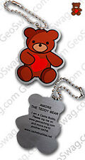 Teddy Bear Cache Buddy For Geocaching (Travel Bug Geocoin)