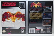 Shadowrun - NO GAME - Super Nintendo SNES Custom Case