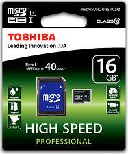 TOSHIBA 16GB MICROSDHC KARTE 16 GB MICRO SD SDHC CLASS 10 SPEICHERKARTE